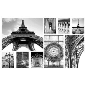 ГРОНБИ Картина, 9 шт., День в Париже - 104.860.15