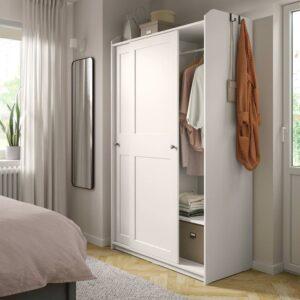 ХАУГА Гардероб с раздвижными дверями, белый - 004.569.19