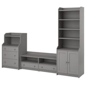 ХАУГА Комбинация для хранения/под тв, серый - 093.887.23