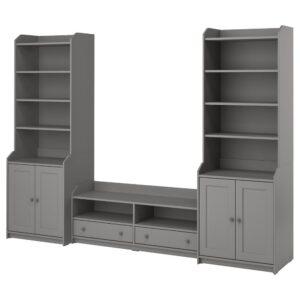 ХАУГА Комбинация для хранения/под тв, серый - 193.887.27