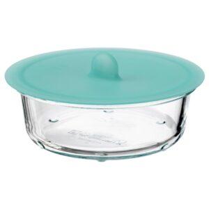 ИКЕА/365+ Контейнер для продуктов с крышкой, круглый стекло, силикон - 292.768.09