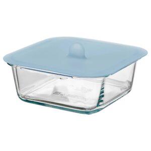 ИКЕА/365+ Контейнер для продуктов с крышкой, четырехугольной формы стекло, силикон - 292.767.67