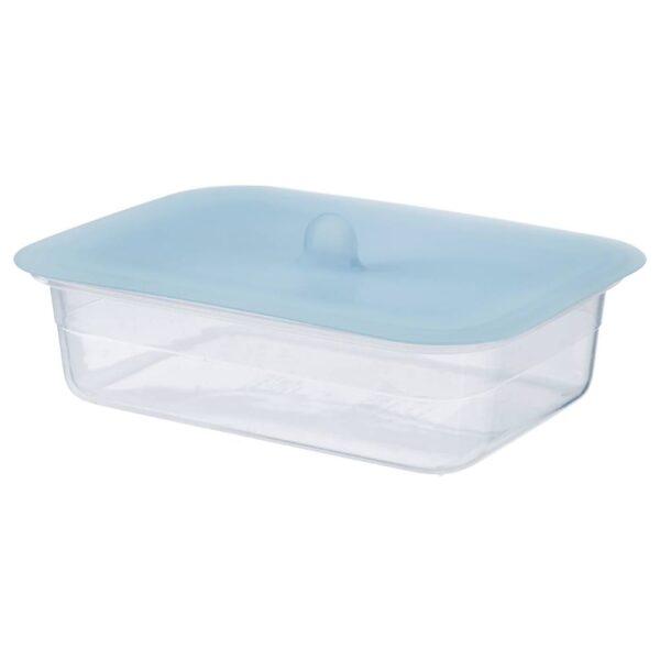 ИКЕА/365+ Контейнер для продуктов с крышкой, прямоугольн формы пластик, силикон - 392.767.95