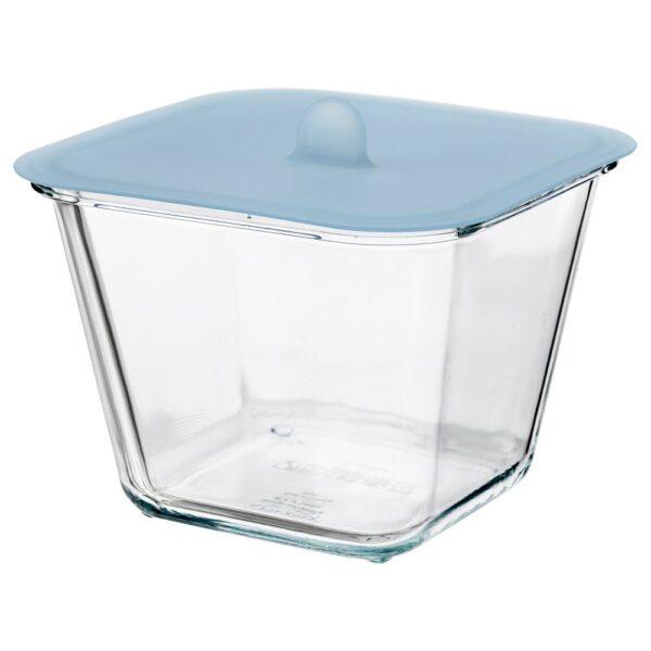 ИКЕА/365+ Контейнер для продуктов с крышкой, четырехугольной формы стекло, силикон - 192.767.82