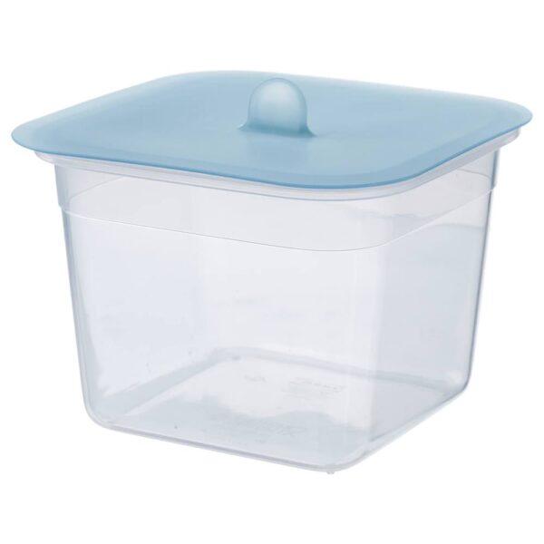 ИКЕА/365+ Контейнер для продуктов с крышкой, четырехугольной формы пластик, силикон - 492.767.71