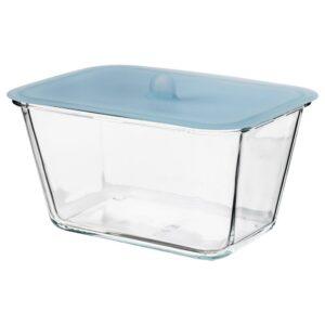 ИКЕА/365+ Контейнер для продуктов с крышкой, прямоугольн формы стекло, силикон - 192.767.58
