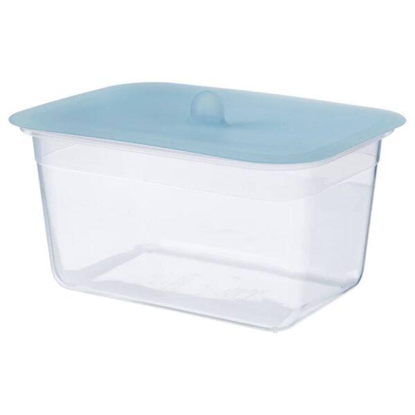 ИКЕА/365+ Контейнер для продуктов с крышкой, прямоугольн формы пластик, силикон - 492.767.66