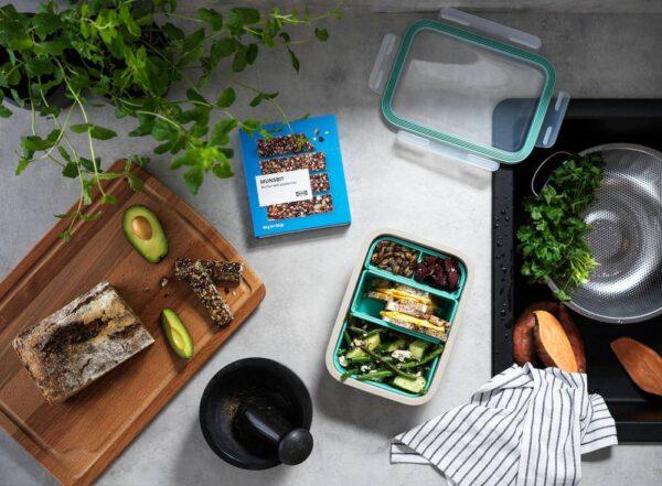 ИКЕА/365+ Контейнер для завтрака с вставками, прямоугольн формы/бежевый - 004.800.09