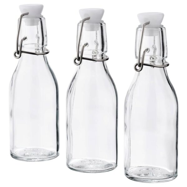 КОРКЕН Бутылка с пробкой, прозрачное стекло - 504.763.35