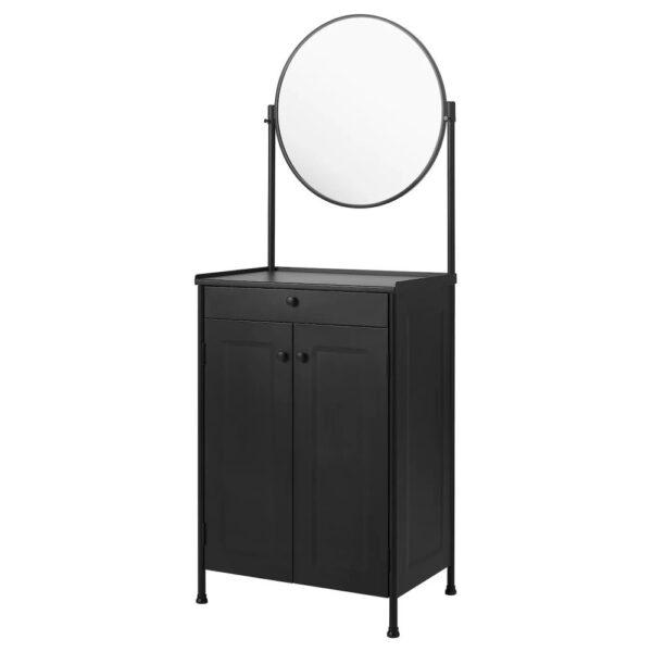 КОРНШЁ Тумба с зеркалом, черный - 404.715.69