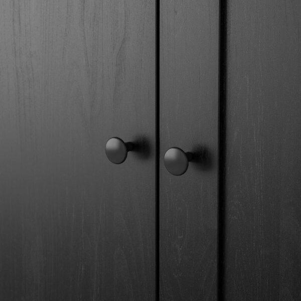 РАККЕСТАД Гардероб 3-дверный, черно-коричневый - 804.537.66