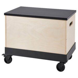 РОВАРОР Приставной столик, на колесиках, береза фанера, черный - 193.841.78