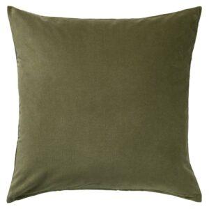 САНЕЛА Чехол на подушку, оливково-зеленый - 604.792.01