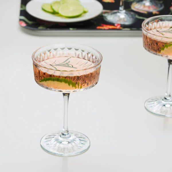СЭЛЛЬСКАПЛИГ Бокал для шампанского, прозрачное стекло/с рисунком - 704.729.06