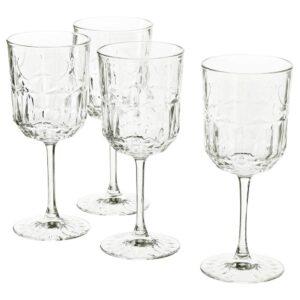 СЭЛЛЬСКАПЛИГ Бокал для вина, прозрачное стекло/с рисунком - 804.729.01