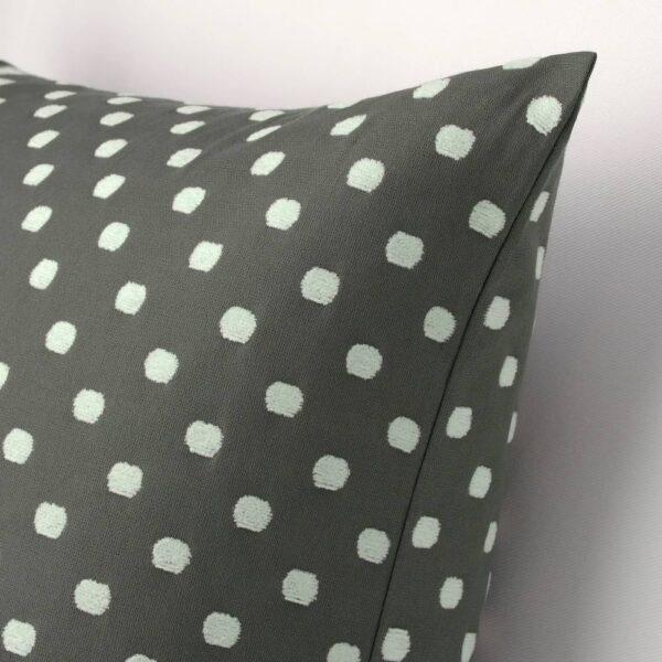 ТАГГБРЭКЕН Чехол на подушку, серый белый/орнамент «точки» - 904.747.06