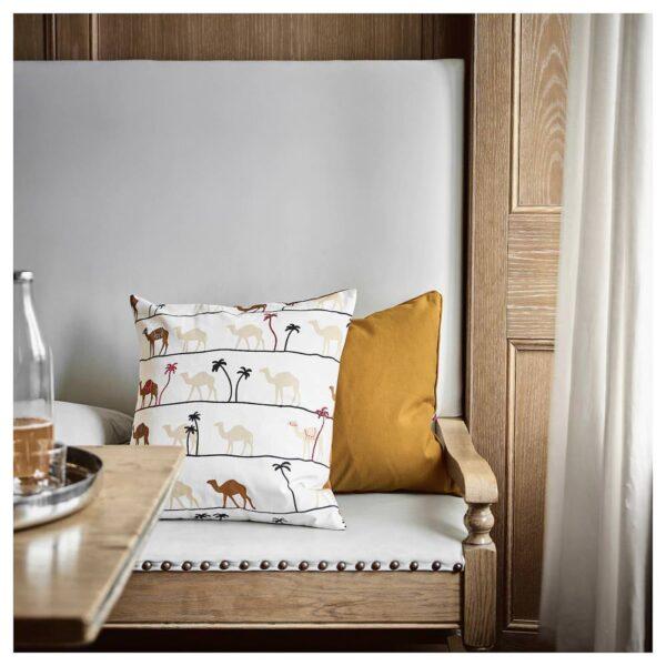 ТИЛЛТАЛАНДЕ Чехол на подушку, орнамент «верблюд»/коричневый - 804.829.95