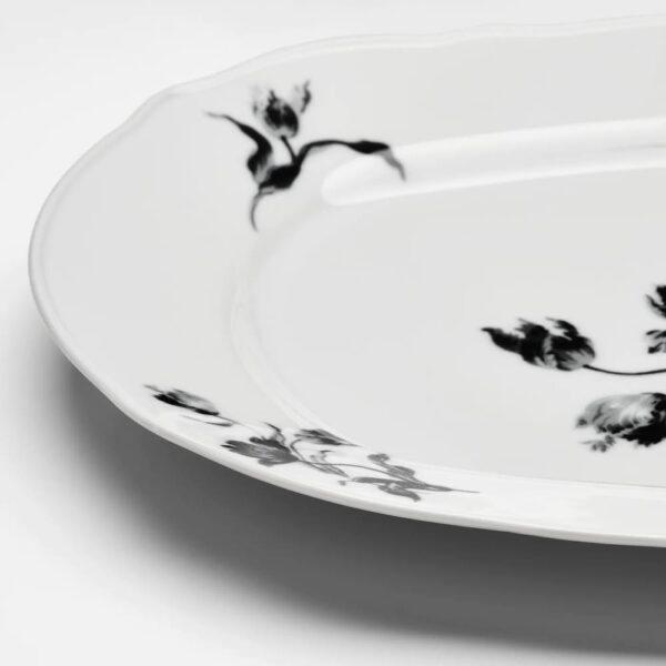 УППЛАГА Блюдо, белый/с рисунком - 004.737.68
