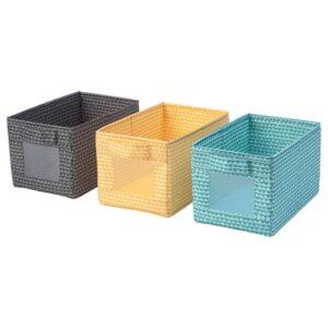УППРЮМД Коробка, черный желтый/бирюзовый - 904.622.56