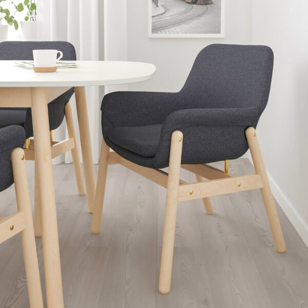 ВЕДБУ / ВЕДБУ Стол и 4 стула, белый, береза - 593.068.95
