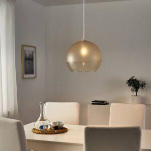 ЯКОБСБЮН Абажур для подвесн светильника, матовое стекло/светло-коричневый - 904.948.94