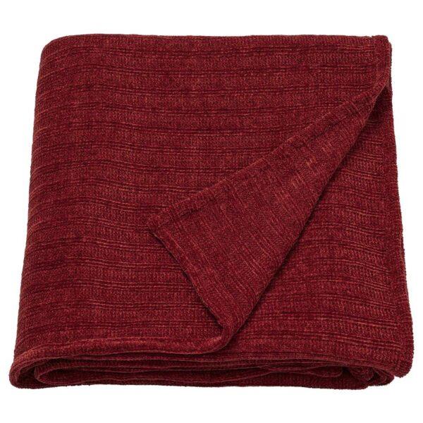 ЮЛВАЛИ Плед, коричнево-красный - 904.473.22