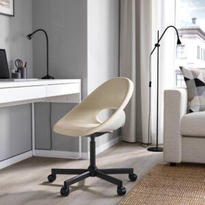 ЭЛДБЕРГЕТ / МАЛЬСКЭР Рабочее кресло c подушкой, бежевый/черный - 693.318.75