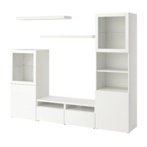 БЕСТО / ЛАКК Шкаф для ТВ, комбинация, белый 240x42x193 см - 993.987.46