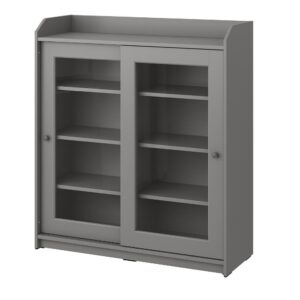 ХАУГА Шкаф-витрина, серый 105x116 см - 704.150.77