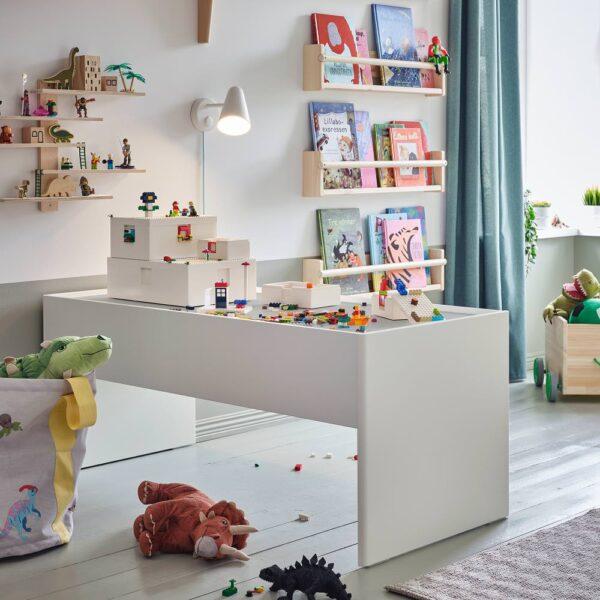 БЮГГЛЕК LEGO® контейнер с крышкой, белый 26x18x12 см - 104.534.06