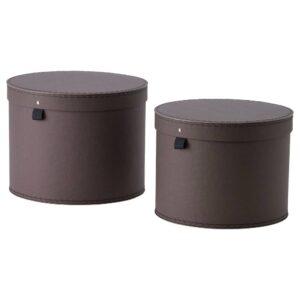 АНИЛИНАРЕ Коробка с крышкой, 2 шт., темно-коричневый - 004.682.72
