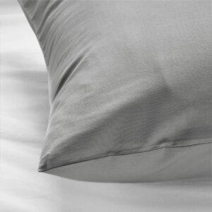 ДВАЛА Наволочка, светло-серый 50x70 см - 304.824.79