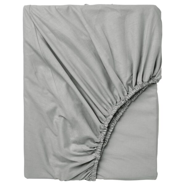 ДВАЛА Простыня натяжная, светло-серый 90x200 см - 104.824.61