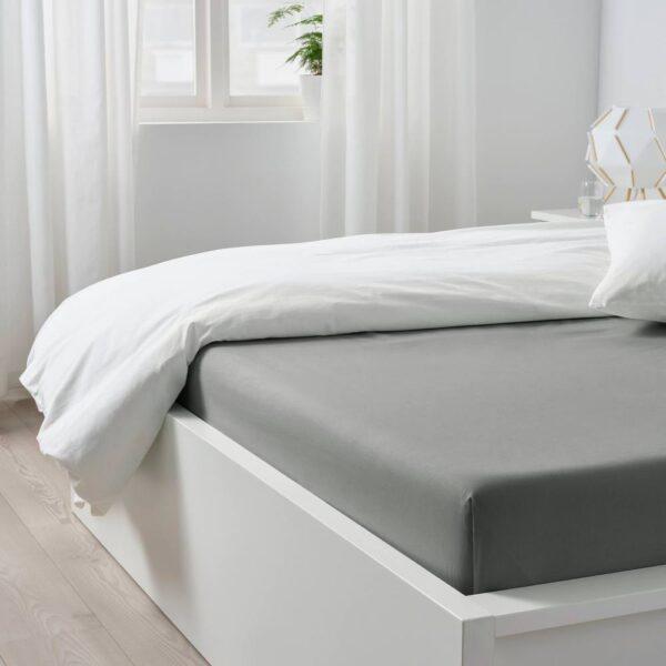 ДВАЛА Простыня, светло-серый 240x260 см - 104.824.75