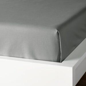 ДВАЛА Простыня, светло-серый 150x260 см - 804.824.72