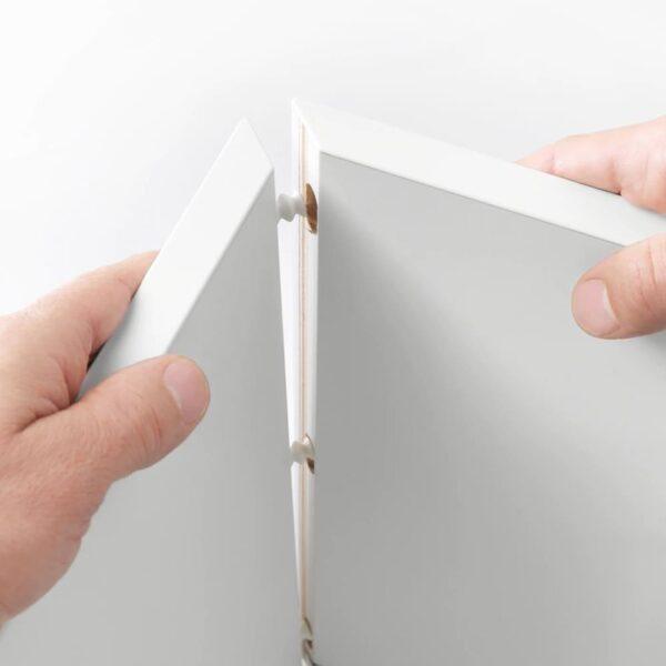 ЭКЕТ Комбинация настенных шкафов, белый/серо-бирюзовый 105x35x70 см - 193.860.64