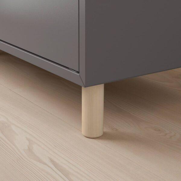 ЭКЕТ Комбинация шкафов с ножками, темно-серый/дерево 70x35x80 см - 993.880.02
