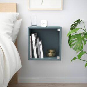 ЭКЕТ Навесной шкаф со стеклянной дверью, серо-бирюзовый 35x35x35 см - 093.854.99