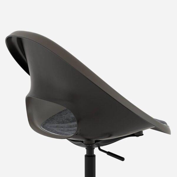 ЭЛДБЕРГЕТ / МАЛЬСКЭР Рабочее кресло c подушкой, черный/темно-серый - 893.319.02