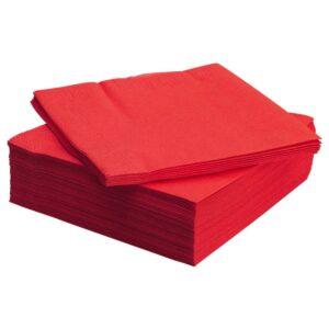 ФАНТАСТИСК Салфетка бумажная, красный 40x40 см - 504.663.36