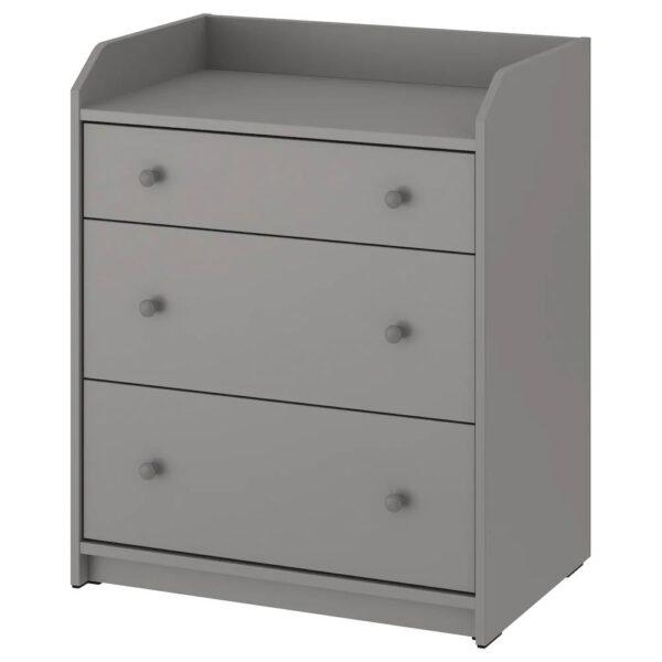 ХАУГА Комод с 3 ящиками, серый 70x84 см - 804.569.01