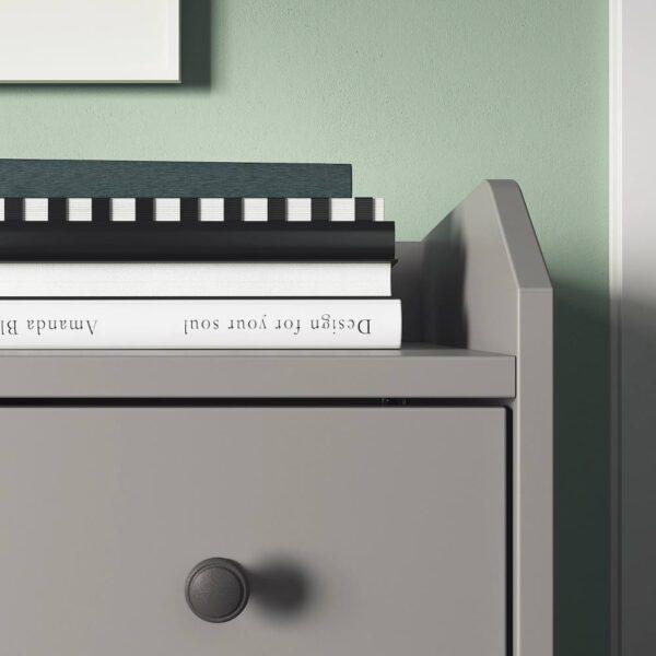 ХАУГА Комод с 6 ящиками, серый 138x84 см - 004.592.39