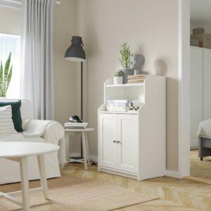 ХАУГА Шкаф с 2 дверьми, белый 70x116 см - 604.150.73