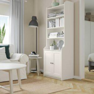 ХАУГА Шкаф высокий,2дверный, белый 70x199 см - 504.150.59