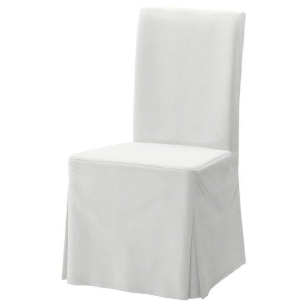 ХЕНРИКСДАЛЬ Чехол для стула, длинный, Блекинге белый - 403.608.87