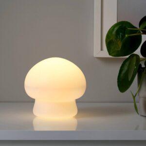 ХЁСТФЕСТ Декоративная подсветка, светодиоды, с батарейным питанием д/дома/улицы/гриб белый 15 см - 604.703.33