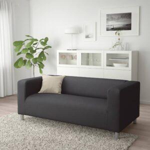 КЛИППАН 2-местный диван, Кабуса темно-серый - 492.517.80