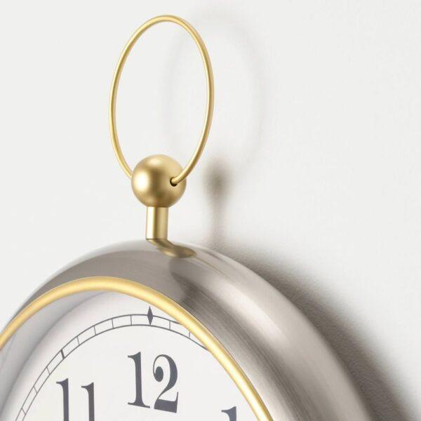 КУТТЕРСМЮККЕ Настенные часы, серебристый 46 см - 104.543.16