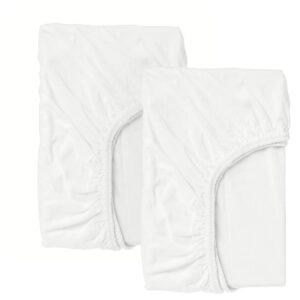 ЛЕН Простыня натяжн для кроватки, белый 60x120 см - 004.870.82