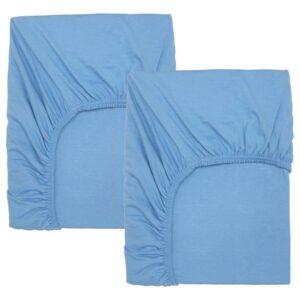 ЛЕН Простыня натяжн для кроватки, голубой 60x120 см - 204.870.81